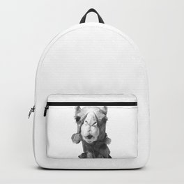 Black and White Camel Portrait Backpack