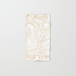 Liquid Gold Marble. Trendy golden ink marbling texture. Suminagashi art. Clear iPhone Case Hand & Bath Towel