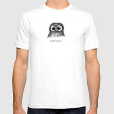 double espresso MEDIUM White Mens Fitted Tee
