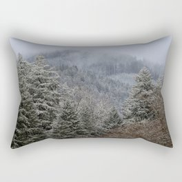 Mt Hagen in the Mist Rectangular Pillow