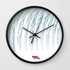 Winter Storm Wall Clock