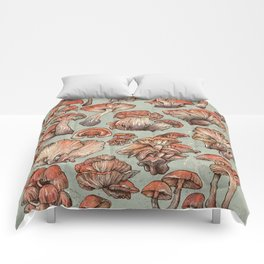 A Series of Mushrooms Comforters