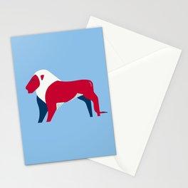 Lion - UK national symbol, flag colors Stationery Cards