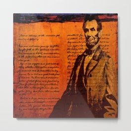 Abraham Lincoln and the Gettysburg Address Metal Print