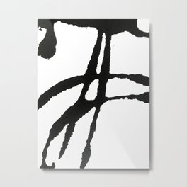 0523: a simple, bold, abstract piece in black and white by Alyssa Hamilton Art Metal Print