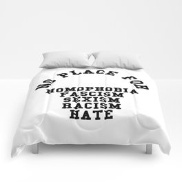No Place For Homophobia Quote Comforters