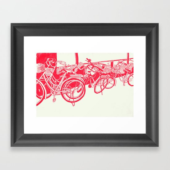 On Paper: Tokyo Bicycles Framed Art Print