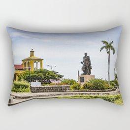 Statue of Cordoba by Lake Nicaragua in Granada Rectangular Pillow