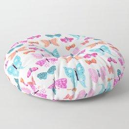 Butterflies in pink Floor Pillow