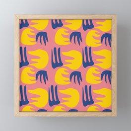 Tropical Summer Flower Gouache Pattern Framed Mini Art Print