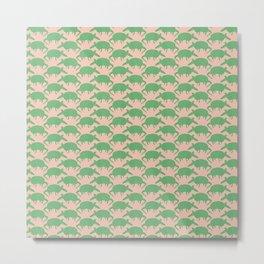 Armadillos All Around green Metal Print