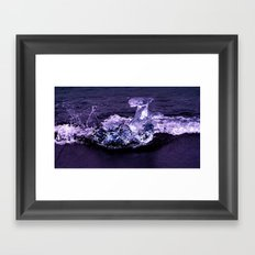 ice wave breaker Framed Art Print
