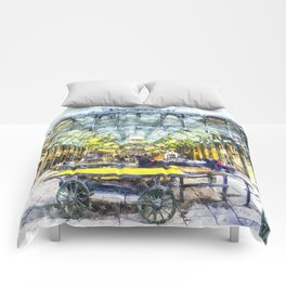Covent Garden Market London Art Comforters