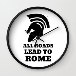Road To Rome Wall Clock