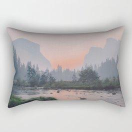 Yosemite Valley Sunrise Pretty Pink Rectangular Pillow