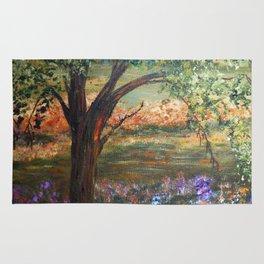 Serene Meadow, Impressionism Landscape Rug