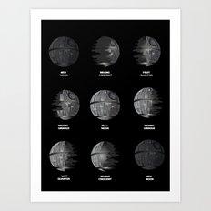 The Death Star Moon phase. Art Print