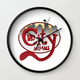 Big City Animals Wall Clock