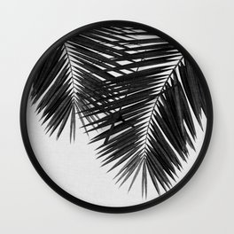 Palm Leaf Black & White II Wall Clock