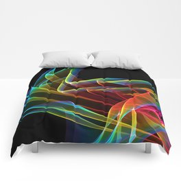 Dancing Northern Lights, Abstract Summer Sky Comforters