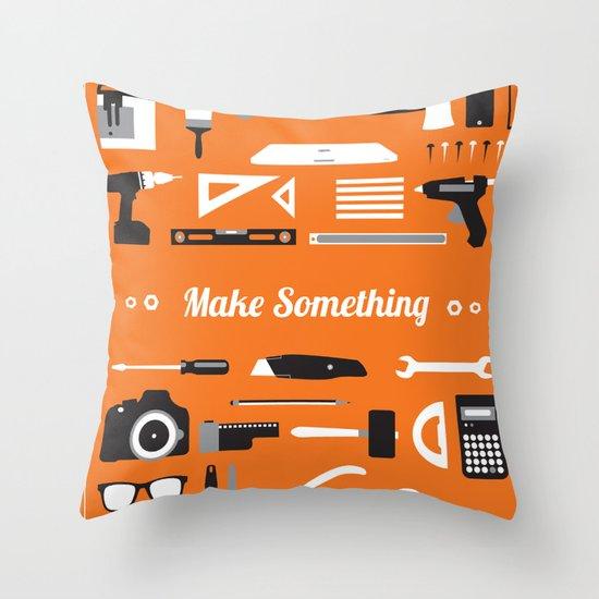 Make Something! Throw Pillow