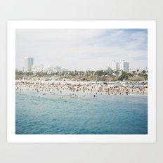 Santa Monica Beach  Art Print