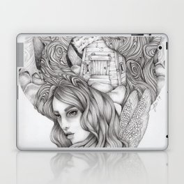 JennyMannoArt GRAPHITE DRAWING/FAIRIE Laptop & iPad Skin