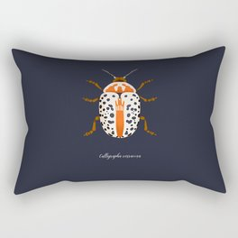 Calligrapha Beetle Rectangular Pillow