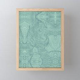 Perception in Mint Green Framed Mini Art Print