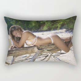 Laughing and Lying on a Tree Branch Rectangular Pillow