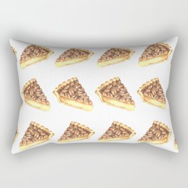 Watercolor Pecan Pie Pattern Rectangular Pillow