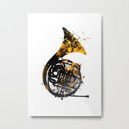 french horn music art #music Metal Print