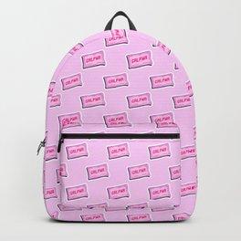 #GRLPWR Girl power Pink Backpack