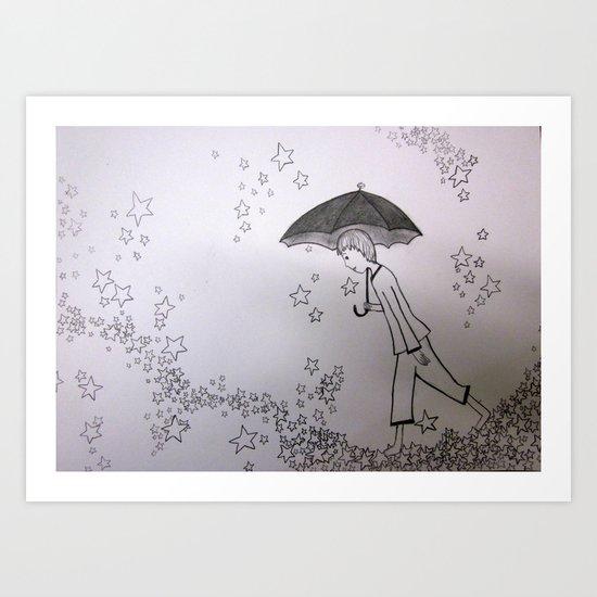 Walking on Stars Art Print