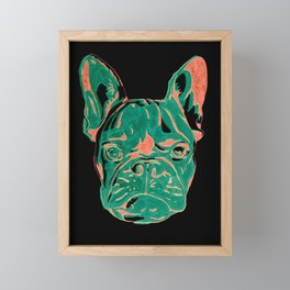 Frenchie Puppy Framed Mini Art Print