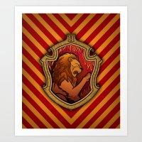 Hogwarts House Crest - Gryffindor Art Print