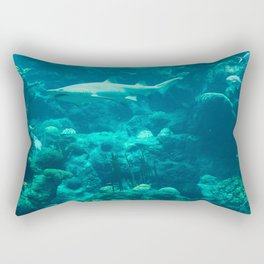 In the big blue world... Rectangular Pillow
