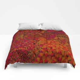 Crimson Watercolor Painting Comforters