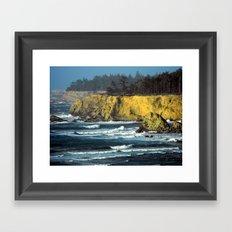 Oregon Surf Framed Art Print