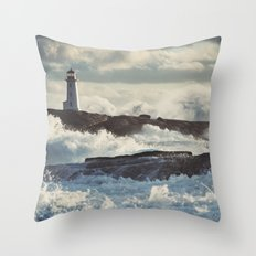 Nor'Easter at Peggy's Throw Pillow