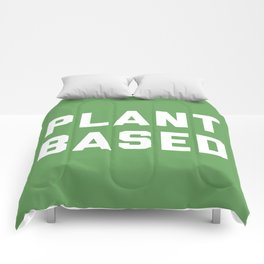 Plant Based Vegan Quote Comforters