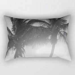 Black and White Florida Palm Trees Photograph (1915) Rectangular Pillow