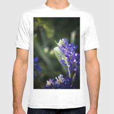Blue Morning Dew MEDIUM White Mens Fitted Tee