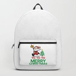 Yo Yo Yo Merry Christmas Backpack