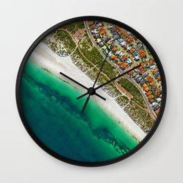 City and Shore (Color) Wall Clock