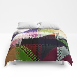 Pattern Multi Color Abstract Comforters