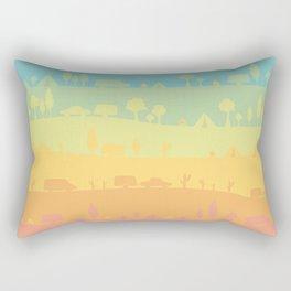 Camping Rectangular Pillow