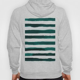 Watercolor Stripes (Emerald Green) Hoody