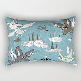 chipegacorn, chihuahua dog + pegasus + unicorn mythical creature! chipegacorn, chihuahua dog + pegas Rectangular Pillow