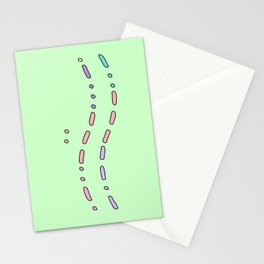 I Love You in Morse Code Green Stationery Cards